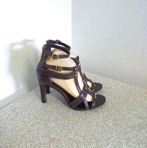 Tory Burch Luke Brown Leather Sandals